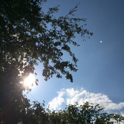 sunbeam and sky