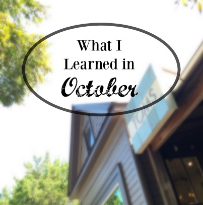 what i learned in oct